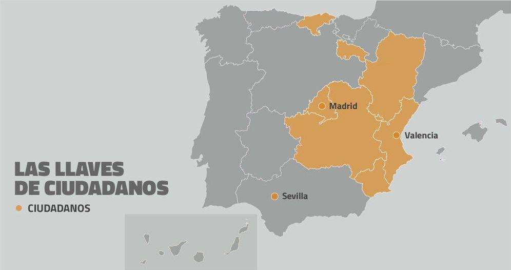 Foto: Así quedaría el mapa político español tras el 24-M (EC)