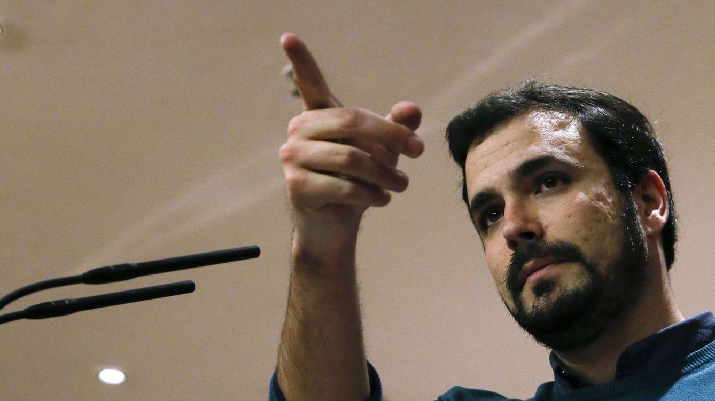 Foto: Alberto Garzón, portavoz de Izquierda Unida-Unidad Popular, el pasado 3 de marzo en rueda de prensa en el Congreso. (EFE)