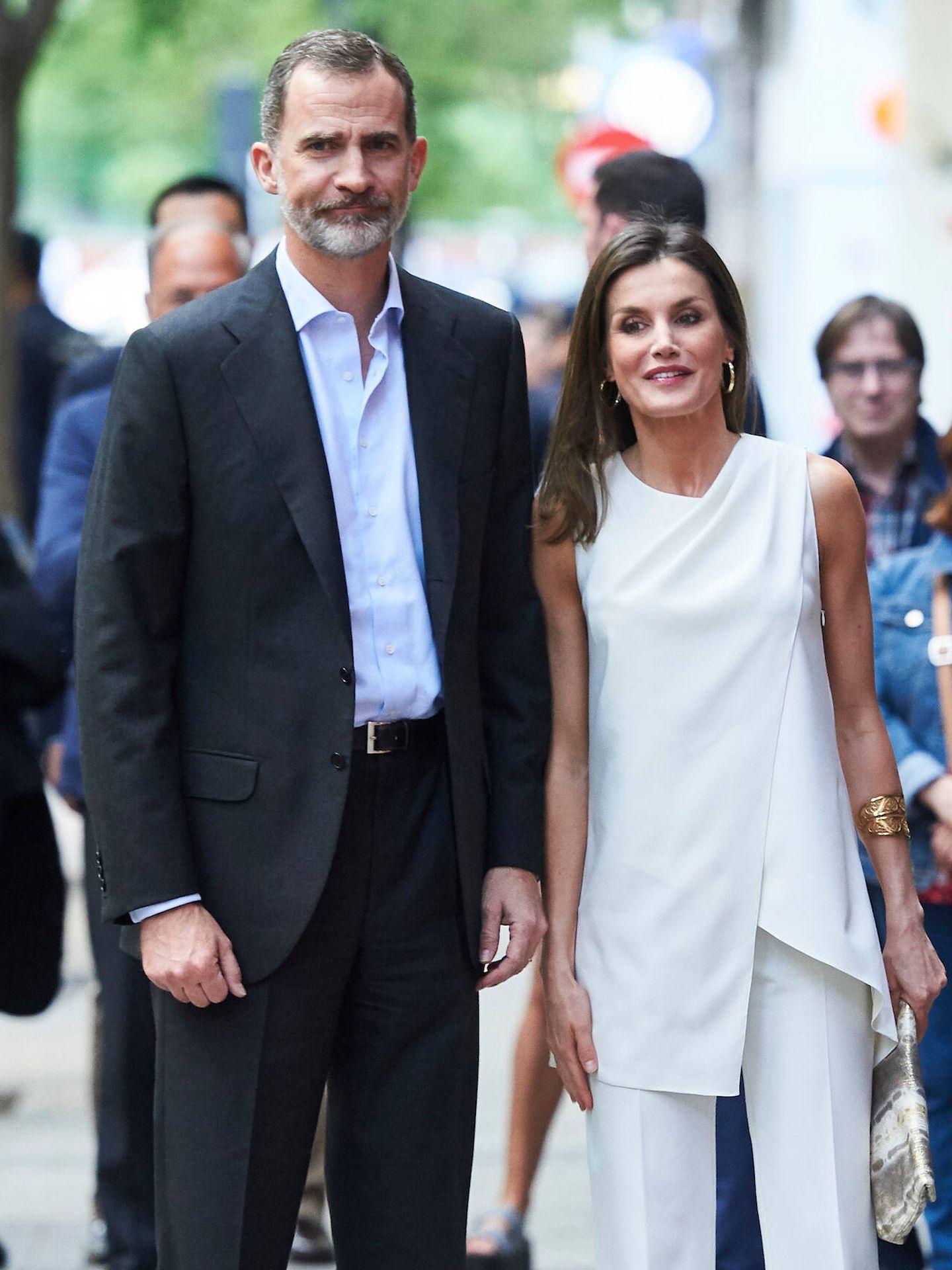 En 2018, cuando acudió por sorpresa con el rey Felipe. (Limited Pictures)