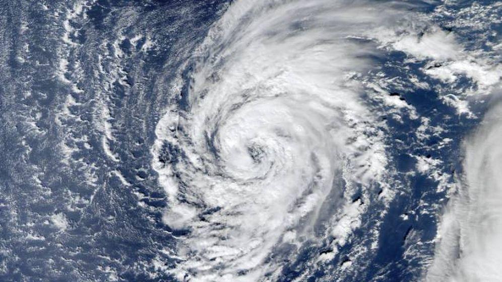 Foto: Imagen desde el satélite de la tormenta tropical Delta. (Nasa)