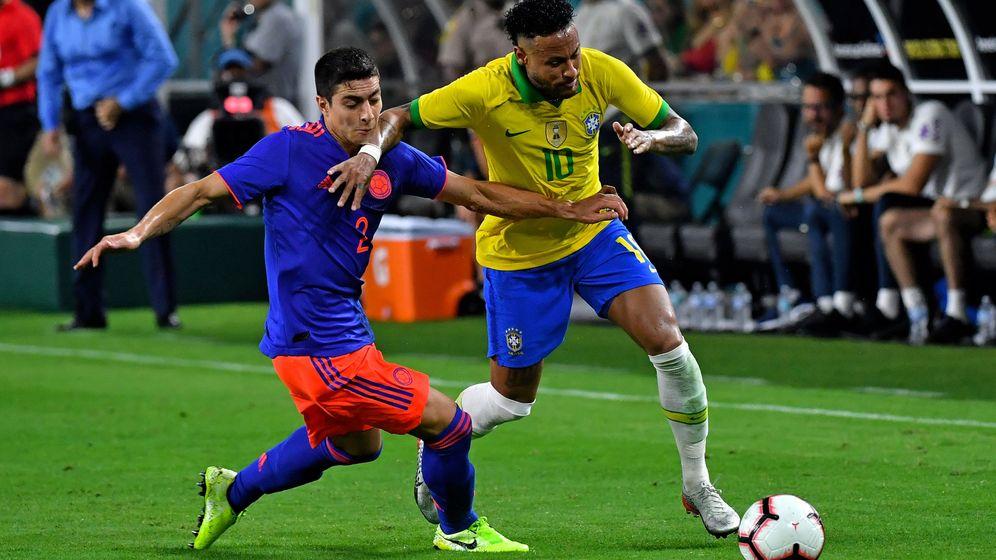 Foto: Neymar volvió a jugar este viernes con Brasil y marcó un gol en el empate ante Colombia. (USA TODAY Sports)
