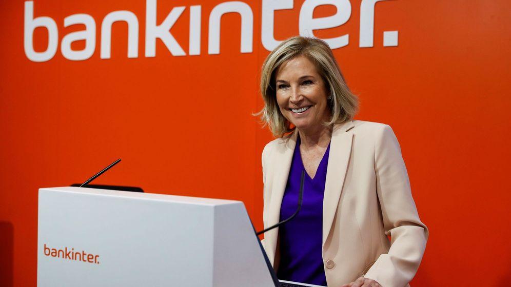 Foto: Dolores Dancausa, durante la presentación de resultados de Bankinter del primer trimestre de 2018. (EFE)