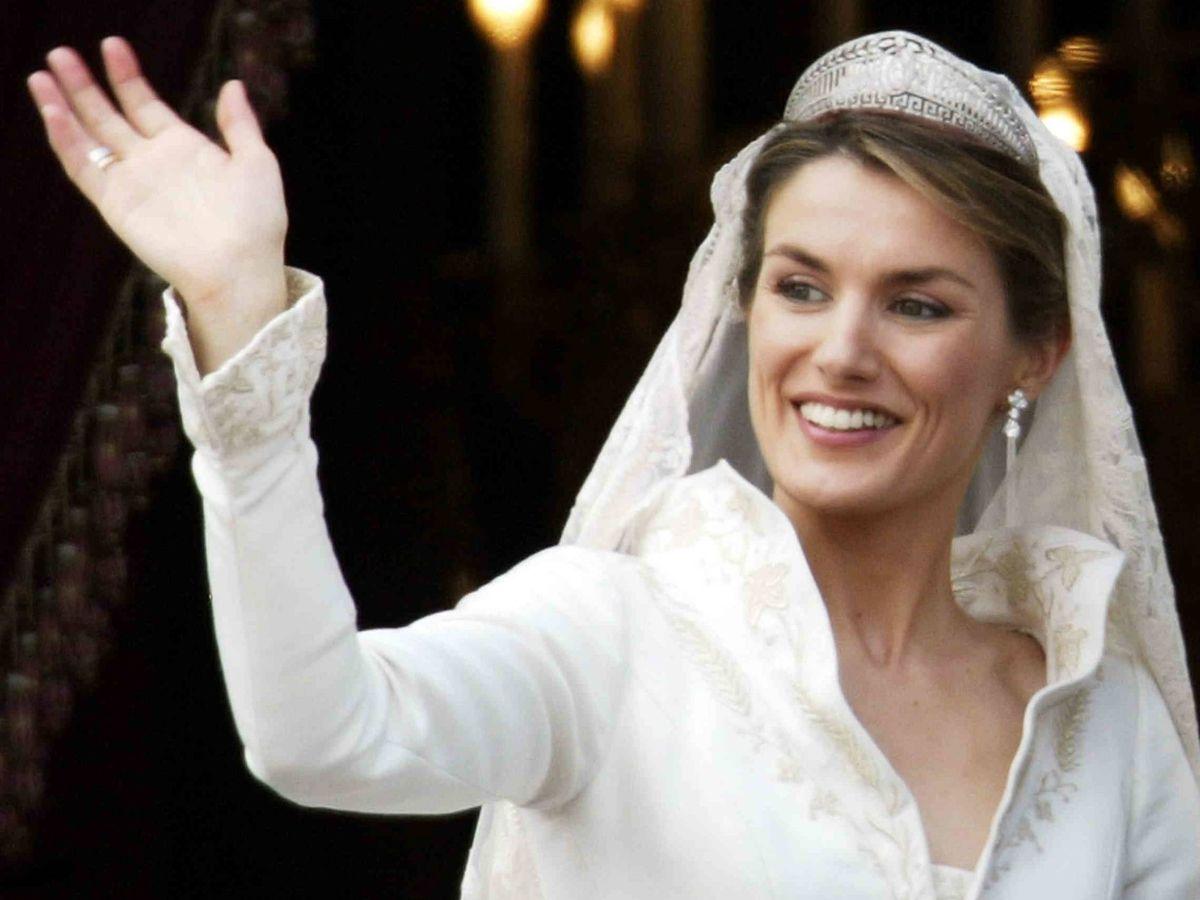 Foto: La reina Letizia, el día de su boda. (Getty)