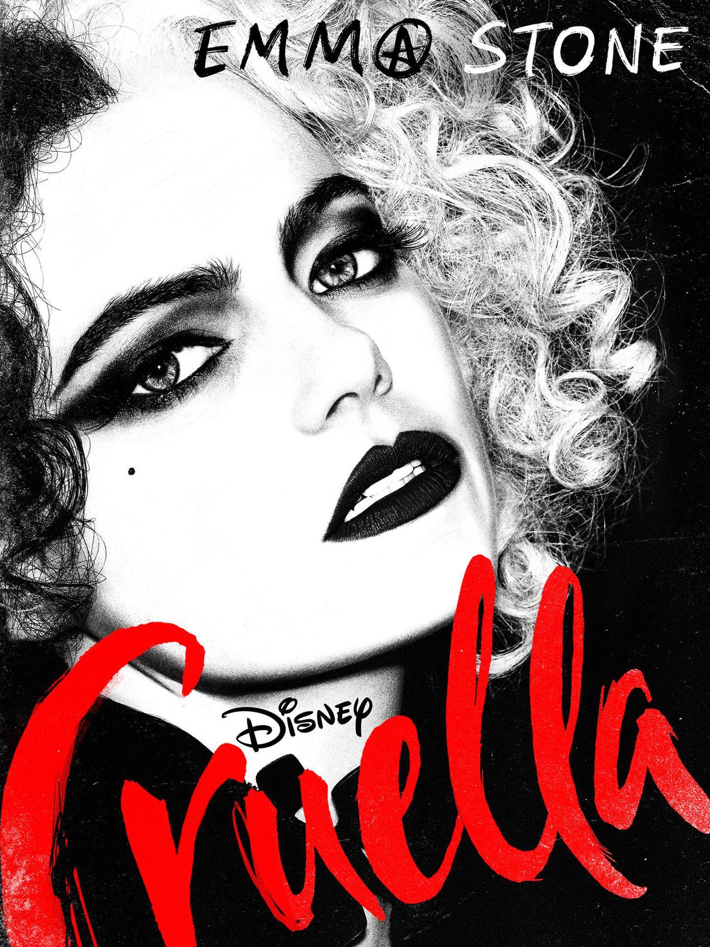 Emma Stone, en 'Cruella'. (@DisneyStudios)