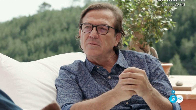 Pepe Navarro, en su casa de Ibiza durante el programa de Bertín.