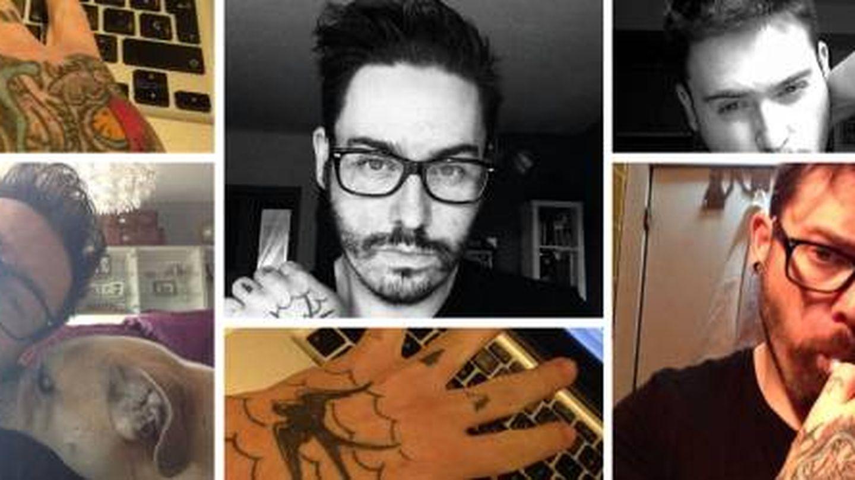 Rodrigo Nogueira Iglesias, 'Roy', en diversas fotos con tatuajes identificables.