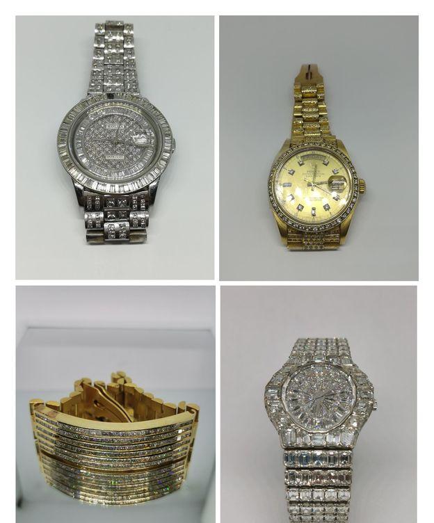 Foto: Parte de las joyas que serán subastada. (EFE)