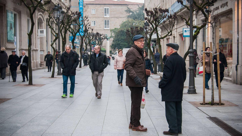 Una calle de Ourense un jueves por la mañana.