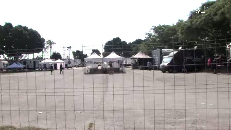 El campamento base del rodaje. (Vanitatis)