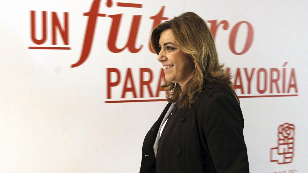 Foto: Susana Díaz, a su llegada al comité federal del PSOE de este lunes 29 de febrero. (EFE)