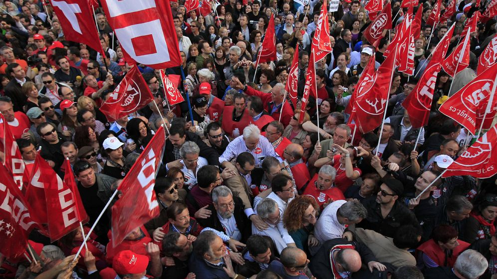 Foto: Manifestación de CCOO en Madrid. (Efe)