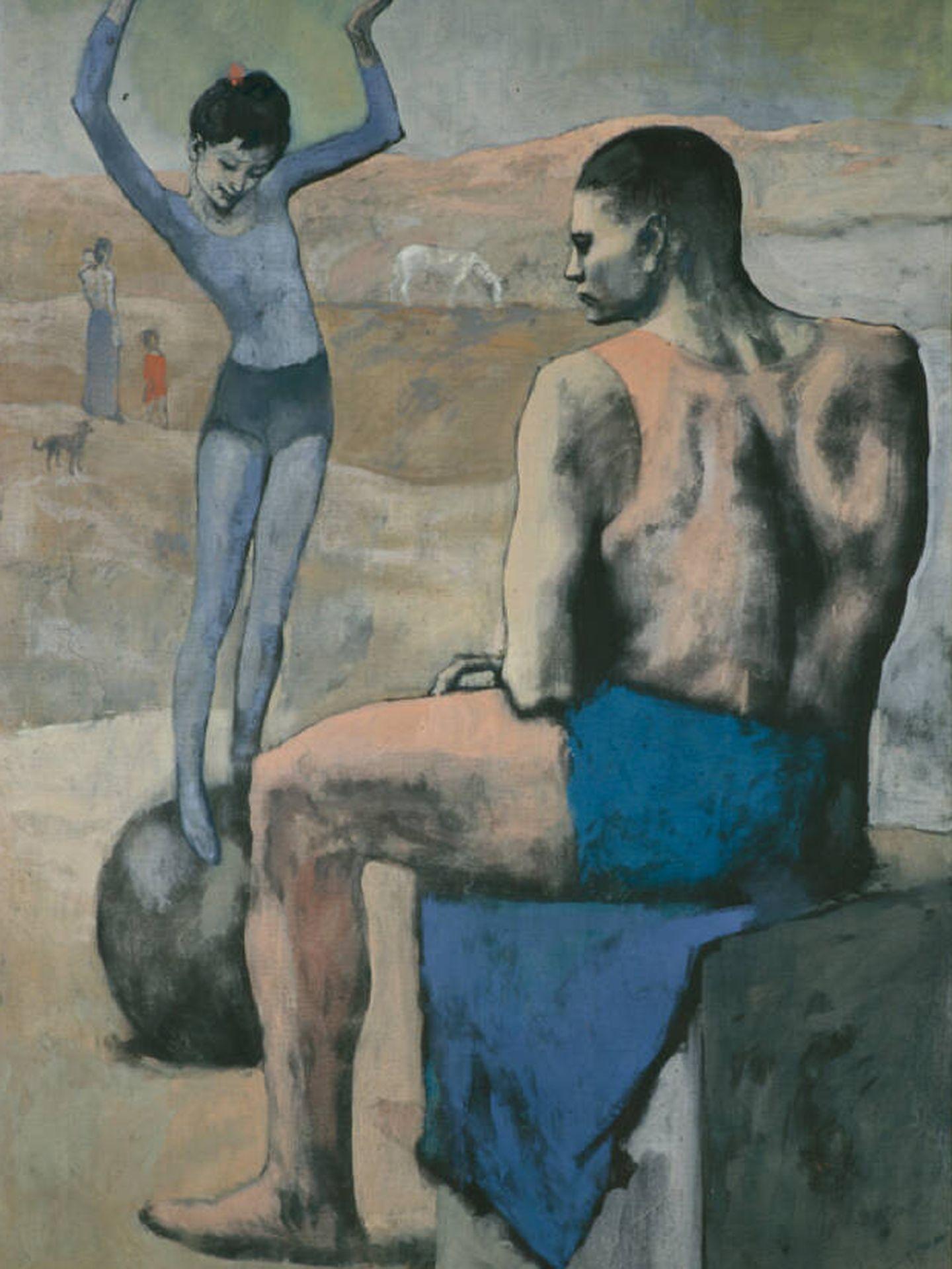 'La acróbata de la bola', Pablo Picasso, 1905. Museo Pushkin.