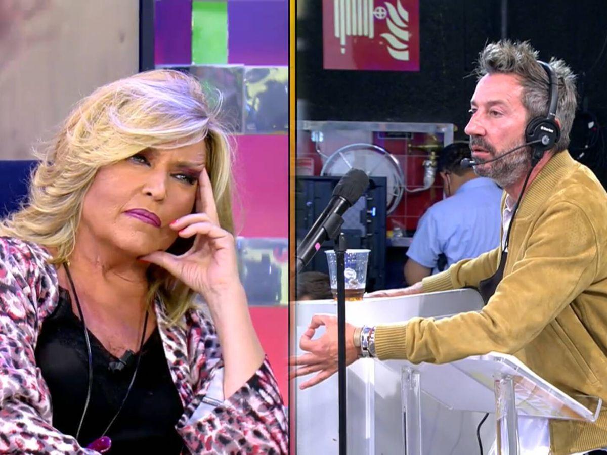 Foto: Lydia Lozano y el director de 'Sálvame'. (Telecinco)