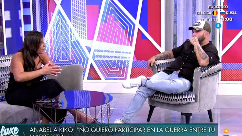 Anabel Pantoja discutiendo con Kiko. (Telecinco).