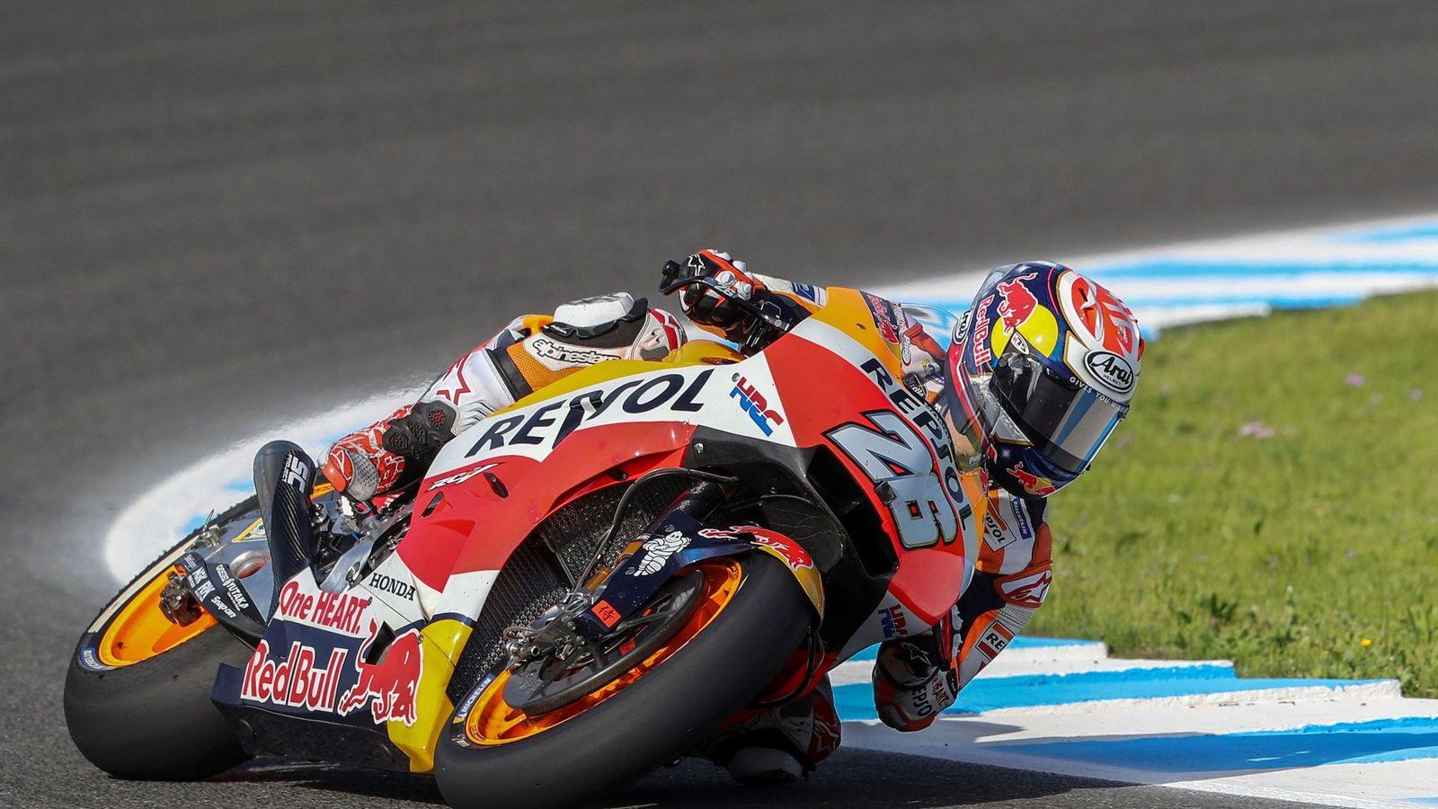 Foto: Dani Pedrosa es piloto del equipo oficial de Honda desde 2006. (EFE)