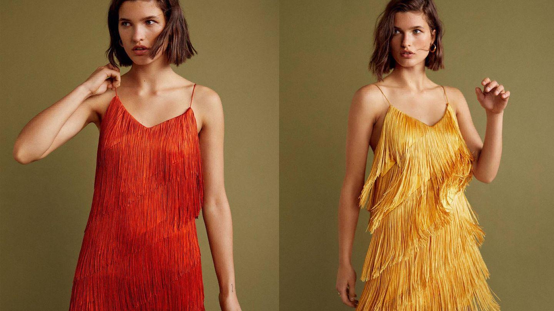 Vestidos de flecos, con mucho movimiento de la Gala Collection de Mango.