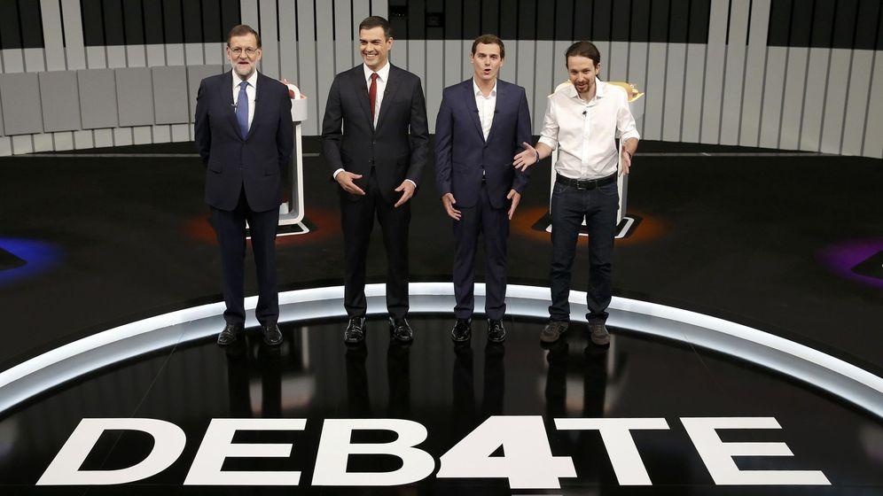 Foto: Los líderes Mariano Rajoy, Pedro Sánchez, Albert Rivera y Pablo Iglesias. (Reuters)
