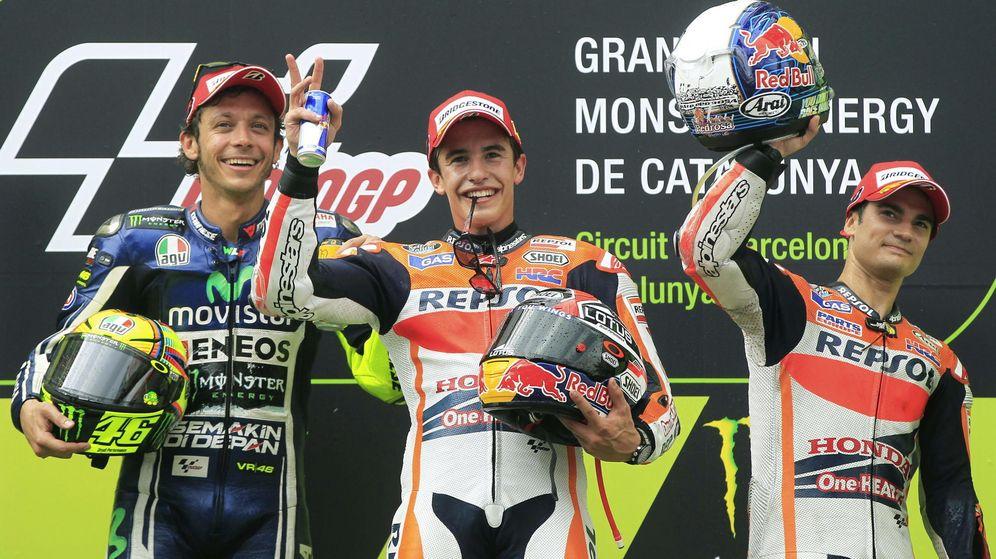 Foto: Podio de MotoGP en el GP de Cataluña de 2014 (Reuters).