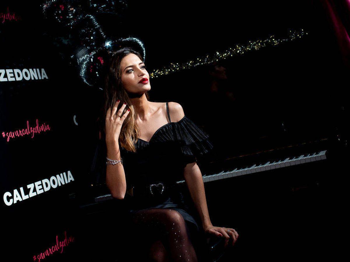 Foto: Sara Carbonero, en un acto publicitario de Calzedonia. (Getty)