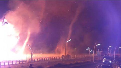 Tornados de fuego arrasan varias casas en Holanda