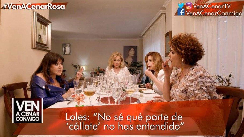Loles León enfrentándose a Irma Soriano. (Telecinco)