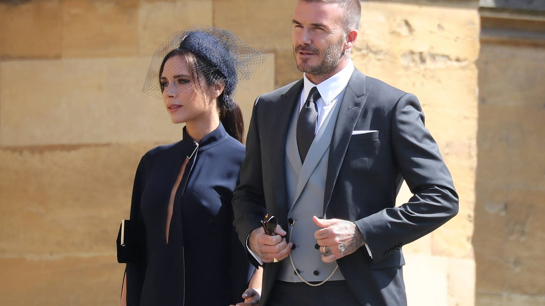 David Beckham y Victoria durante la boda. (Gtres)