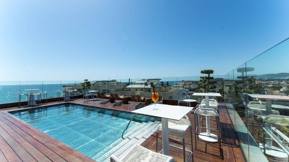Foto: La espectacular terraza del hotel MiM Sitges, de Leo Messi. (Cortesía)
