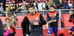 Post de Gerard Piqué: su canto de Els Segadors y su balón al larguero con la Selección catalana