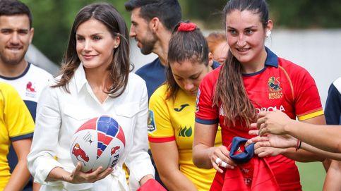 La sorpresa de la 'periodista' Letizia a las Leonas y su conocimiento del rugby