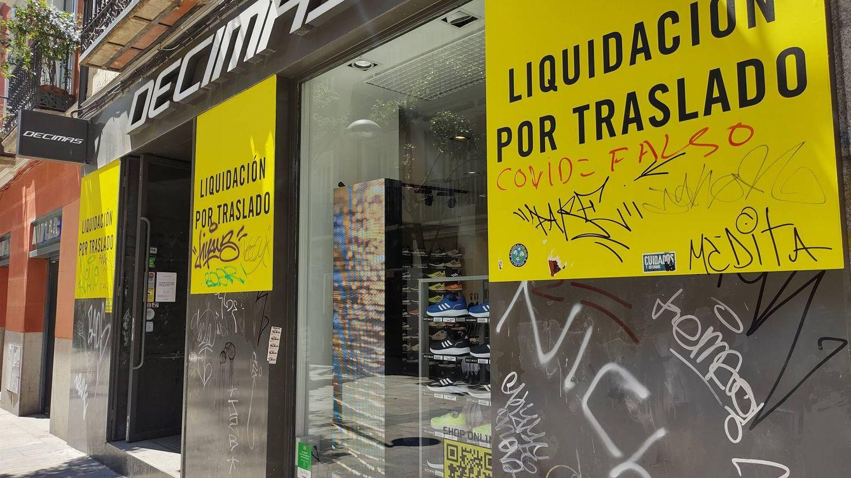 Locales vacíos, caídas del 15% del alquiler... así es el éxodo en la milla de oro de Madrid