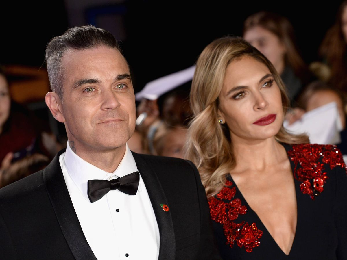 Foto:  Robbie Williams y Ayda Field. (Getty)