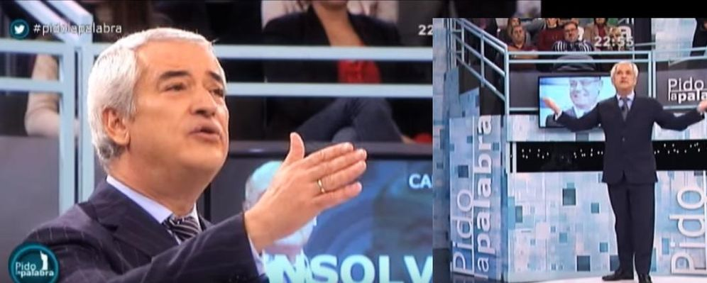 Foto: El presidente de Ausbanc, Luis Pineda, en el programa 'Pido la palabra' de Canal Sur.