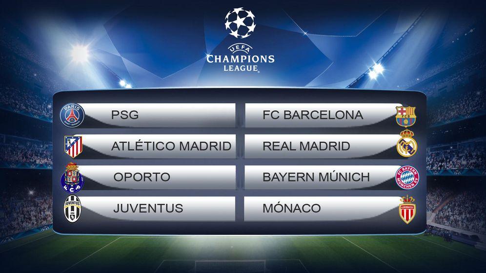 Foto: Bombazo en la Champions: Atlético-Real Madrid y PSG-Barcelona en cuartos de final
