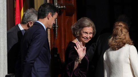 La Reina Sofía luce su joya más especial, un colgante de rubí heredado de su madre