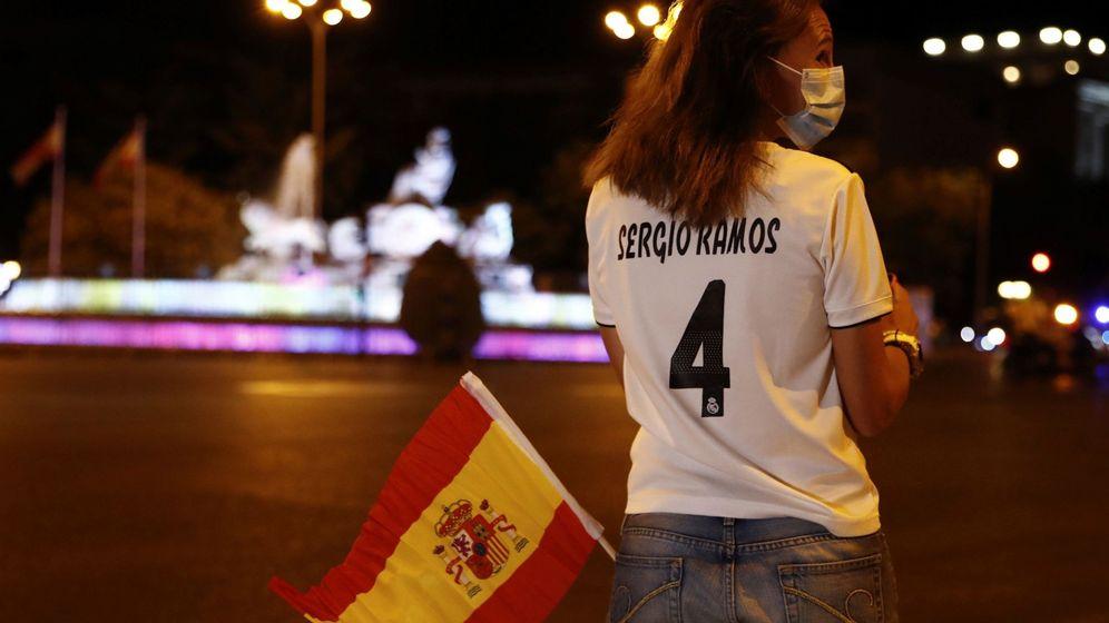 Foto: La Cibeles, vacía, tras ganar el Real Madrid la Liga, por el coronavirus. (EFE)