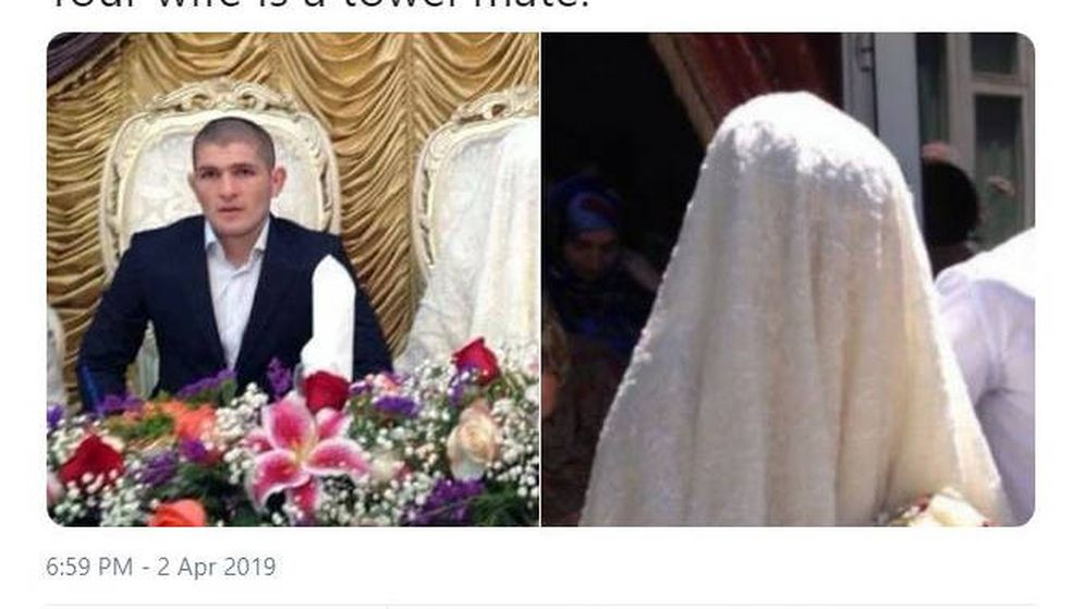 Foto: El mensaje de McGregor, que borró posteriormente, llamando 'toalla' a la mujer de Khabib (Foto: Twitter)