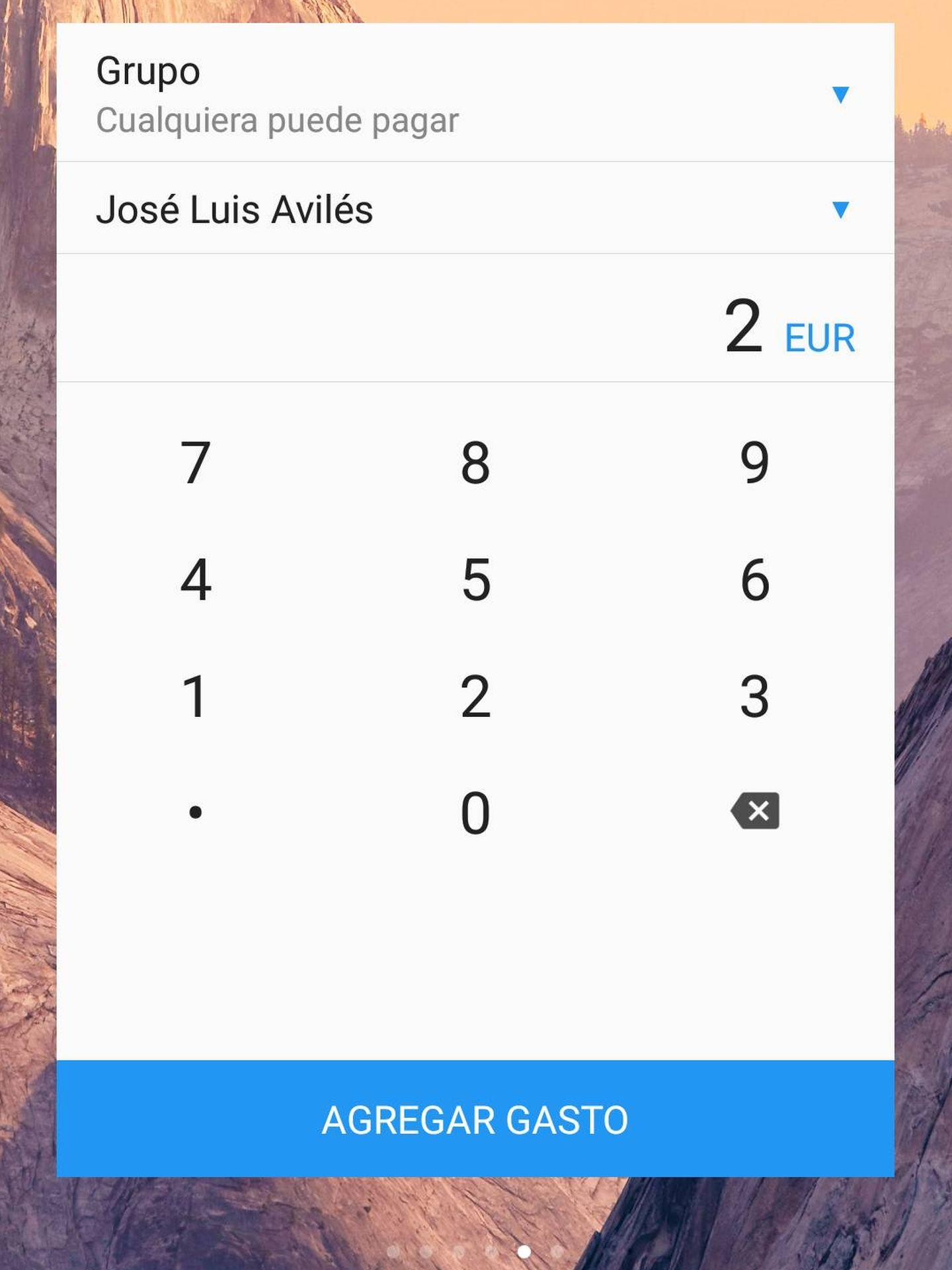 Una de las ventajas de Settle Up es el widget que podemos tener en la pantalla de nuestro teléfono móvil (Fuente: José Luis Avilés)