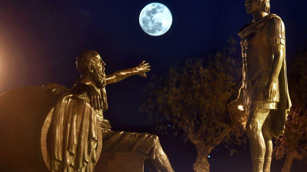 Foto: Superluna vista desde la ciudad de corinto