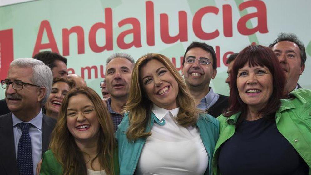 Foto: Susana Díaz, aclamada como presidenta, presidenta al ganar el PSOE las Elecciones de Andalucía (EFE)