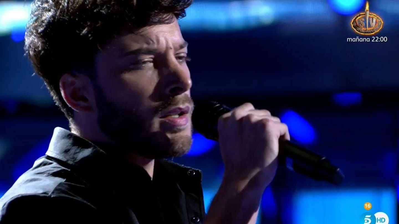 Blas Cantó, durante su actuación. (Mediaset)
