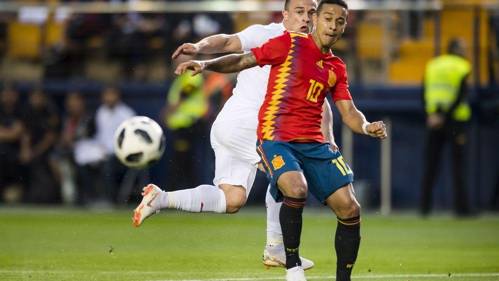 Foto: Thiago, este domingo, en el Estadio de La Cerámica. (EFE)