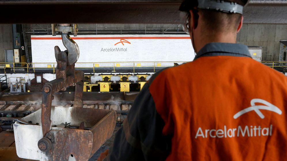 Foto: trabajador de arcelormittal en Ghent