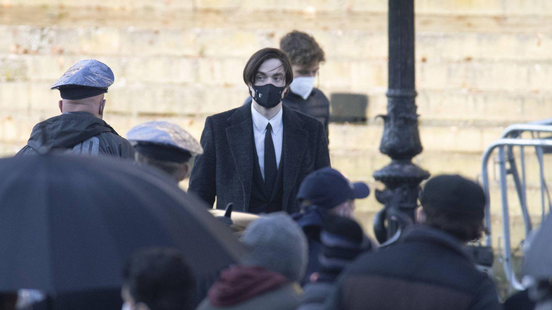 El actor, durante el rodaje de 'The Batman'. (Getty)