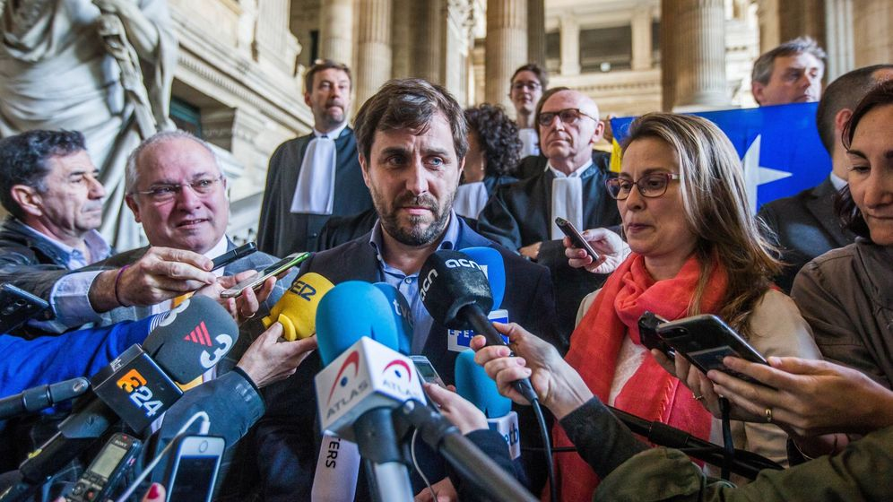 Foto: Los exconsejeros catalanes Lluís Puig, Toni Comín y Meritxell Serret. (EFE)