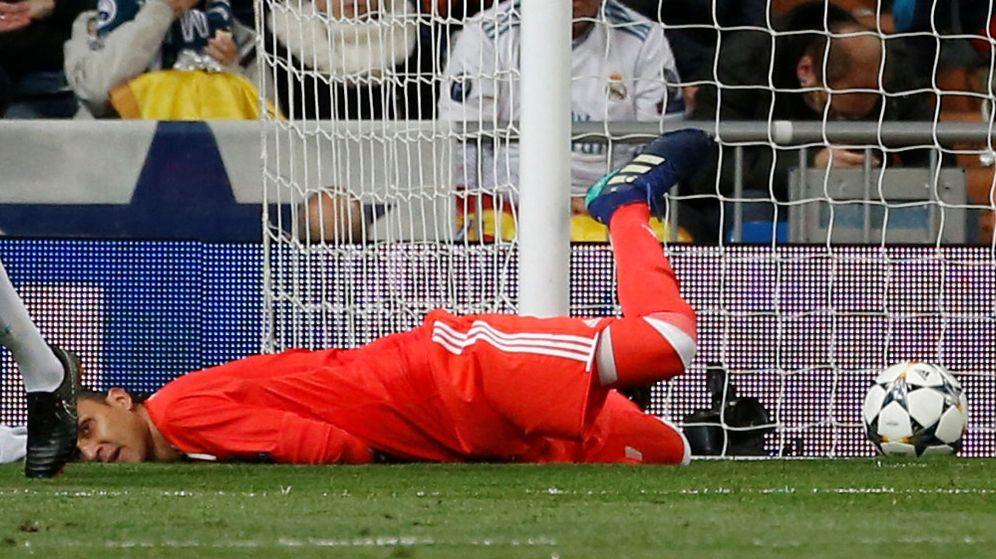 Foto: Keylor Navas, este miércoles tras encajar un gol. (Reuters)