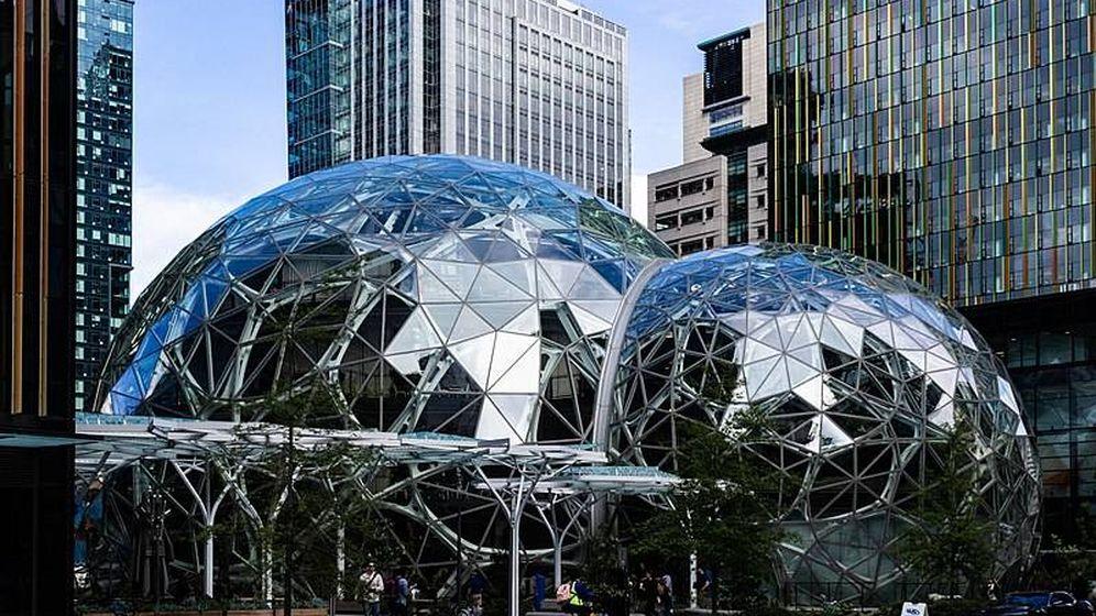 Foto: Vista de una parte del campus de Amazon en Seattle.