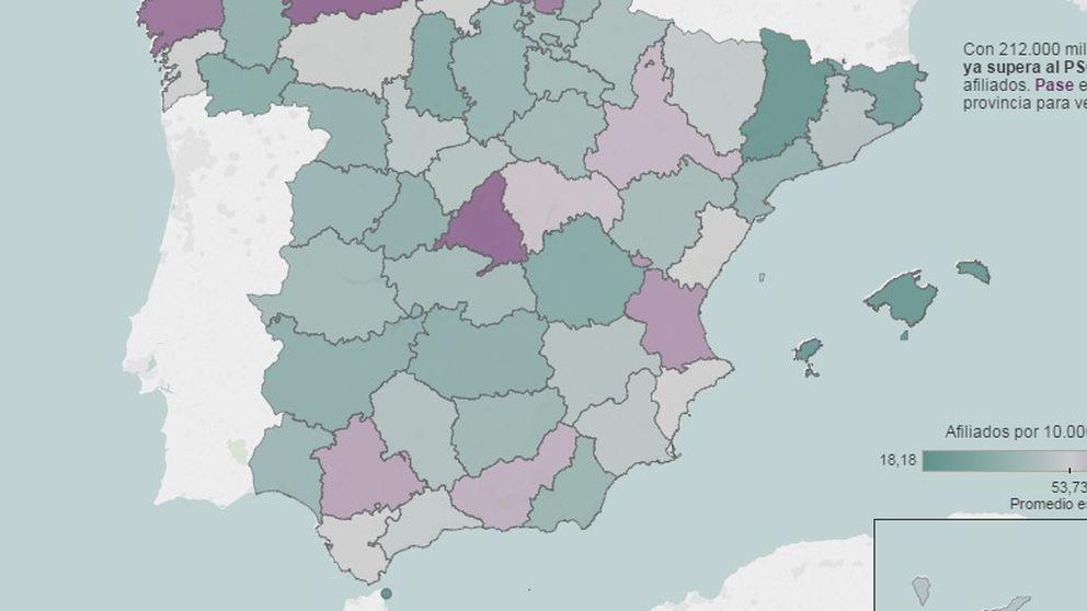 El músculo de Podemos a nivel territorial y su estrategia expansiva