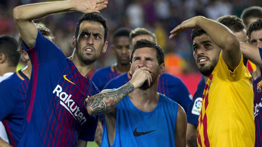 Foto: Victoria clara del FC Barcelona contra el Chapecoense en el 'Trofeo Joan Gamper'. (EFE)