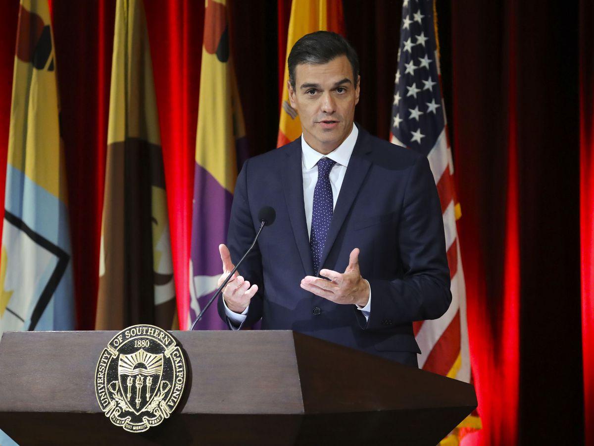 Foto: Pedro Sánchez, en su anterior visita a California (EEUU).