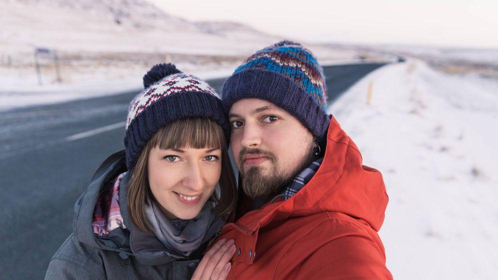 Foto: Pareja en Islandia.
